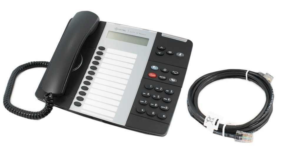 Mitel 5212 Telephone Black with Patch lead