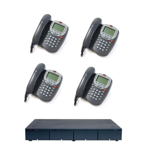 Avaya IPO500 Analogue Phone System with 4 Avaya 5410 Telephones