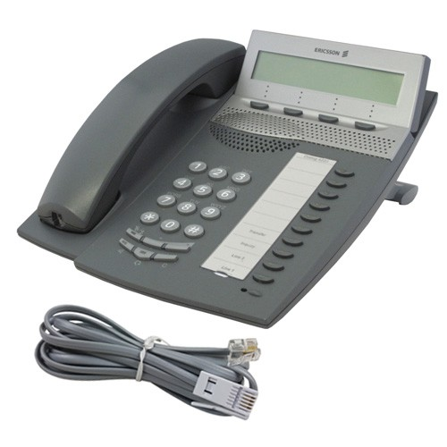 Ericsson Dialog 4223 Telephone in Dark Grey with line cord