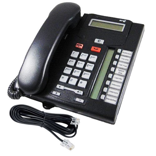 Nortel T7208 Telephone in Charcoal - NT8B26AABL with line cord