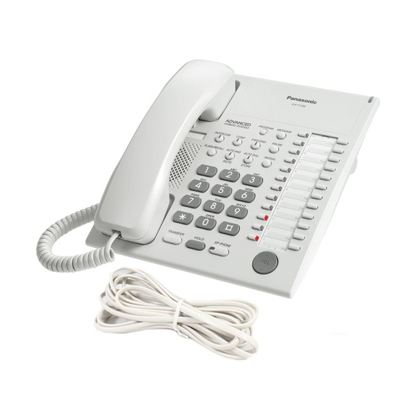 Panasonic KXT7720 E Series Phone in White with Line Cord