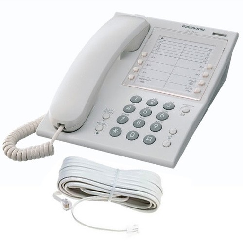 Panasonic KX-T7710 Telephone in White with line cord
