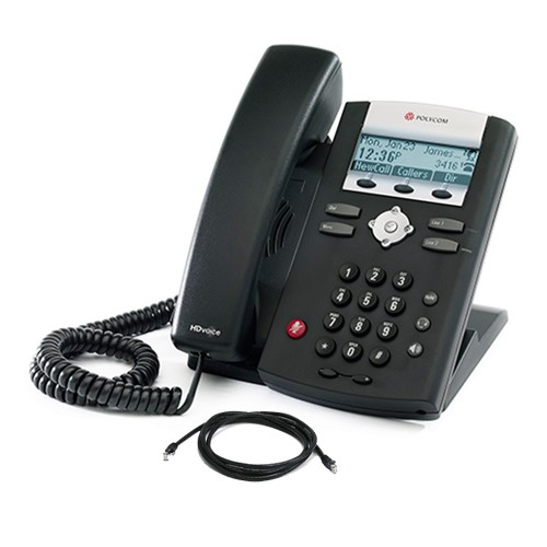 Polycom SoundPoint IP 335 HD SIP Phone No PSU with patch lead