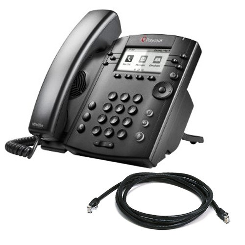 Polycom VVX 300 VOIP Telephone with patch lead