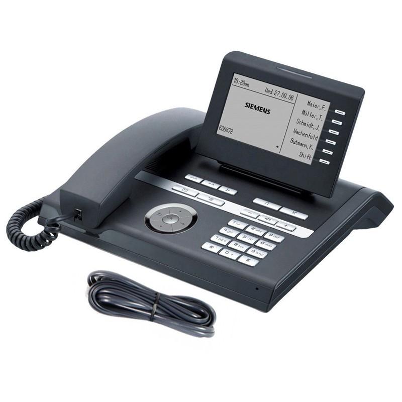 Siemens Openstage 40 HFA Digital Black Phone with Line Cord