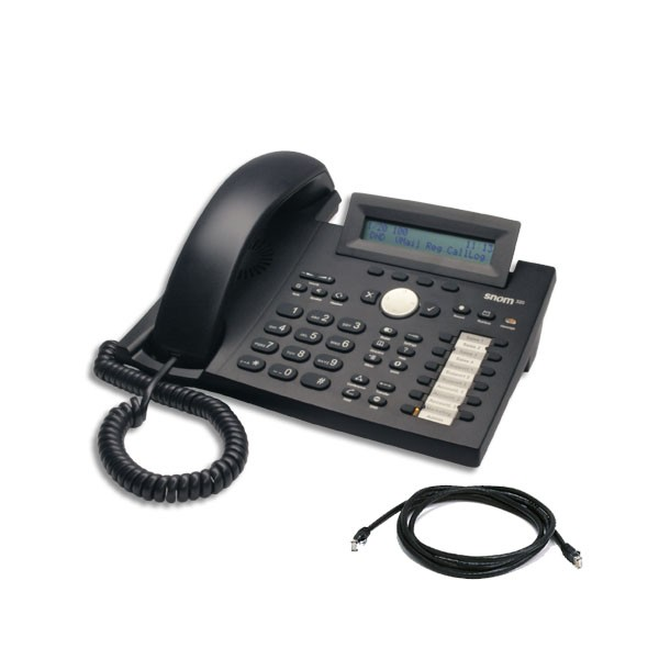 Snom 320 IP Telephone with patch lead