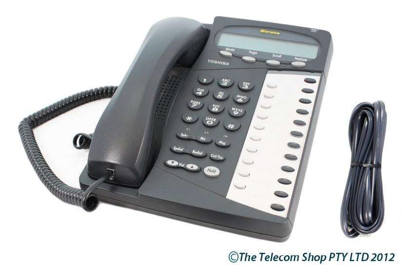 Toshiba DKT 3512 F-SD Telephone Black