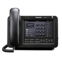 "Panasonic KX-UT670 7"" Display Touch Screen SIP Phone in Black Side View"