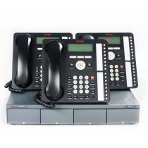 Three Avaya 1616 IP Telephones