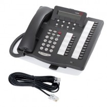 Avaya 6424D+M Telephone in Grey with line cord