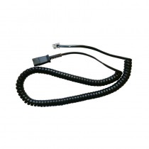 Intelligent Bottom Lead QD-RJ9 New for Plantronics H Series & Agent Headsets