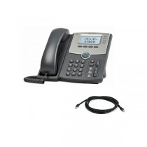 Cisco SPA514G VoIP/SIP Phone with Patch Lead