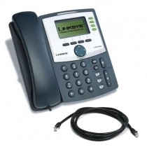 Cisco Linksys SPA942 IP Phone with patch lead