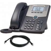 Cisco SPA504G IP Phone with patch lead