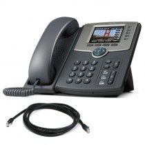 Cisco SPA 525G2 Telephone with patch lead