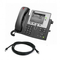 Cisco Unified IP 7941G Telephone with patch lead