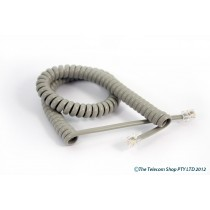 Universal Curly Telephone Cord Long Tail - Grey