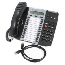 Mitel IP 5224 Dual Mode Telephone in Black 50007474 with Patch lead