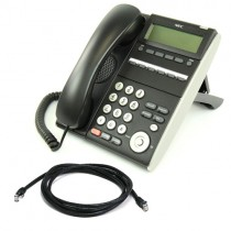 NEC ITL-6DE Telephone in Black with patch lead