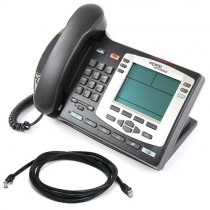 Nortel i2004 Silver Bezel IP Telephone NTDU92 with patch lead