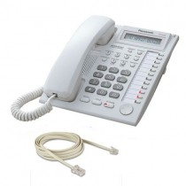 Panasonic KX-T7730 Telephone in White with line cord
