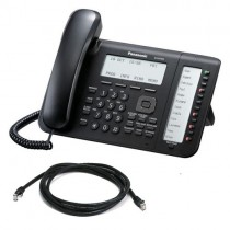 Panasonic NT556X-B IP Telephone in Black with patch lead