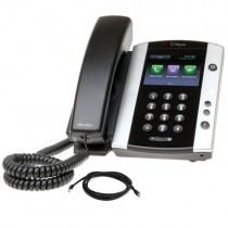 Polycom VVX500 Telephone with patch lead