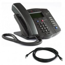Polycom SoundPoint IP 301 VoIP Phone with patch lead