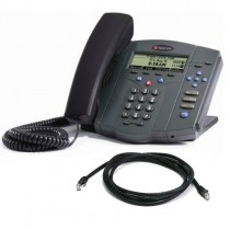 Polycom Soundpoint IP 430 SIP 2-Line IP Desktop Phone with patch lead
