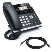 Yealink T42S-SFB IP Desk Phone in Black Skype for Business Version New