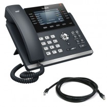 Yealink T46S-SFB IP Desk Phone in Black Skype for Business Version