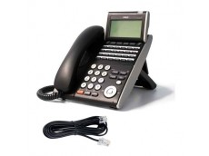 NEC DT300 LCD Black Digital Handset DTL-24D-1A with line cord