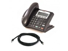 Nortel i2002 Silver/Black Telephone with patch lead
