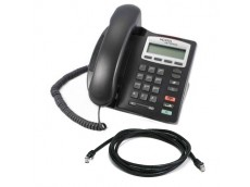 Nortel IP Telephone i2001 in Silver with patch lead