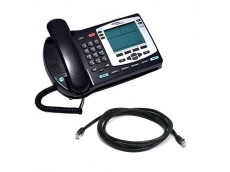 Nortel NTDU92 i2004 IP SilverTelephone with patch lead