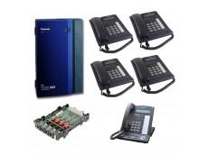 Panasonic Telephone System With 4 Phones
