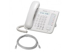 Panasonic KX-NT551X IP Phone White with patch lead