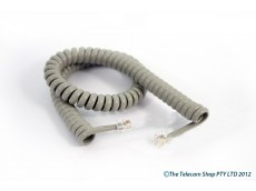 Universal Curly Telephone Cord Short Tail - Grey