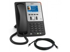 Snom 821 IP Phone in Black with patch lead