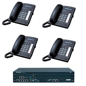 NCP500X ISDN Telephone System with Four KX-T7665 phones