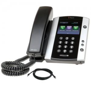 Polycom VVX500 Telephone with patch lead
