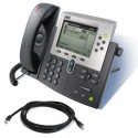 Cisco 7960G IP Telephone with SCCP Firmware with patch lead