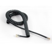 Universal Curly Telephone Cord Long Tail - Black