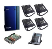 Panasonic Telephone System With 4 Phones